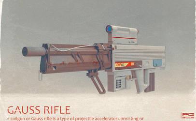 Gauss rifle 3D by ProxyGreen
