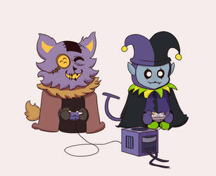 Seam and Jevil by scottcok