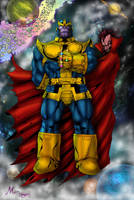 THANOS god by vassago  colored by Mich974