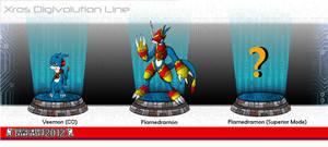 DWC Xros Digivolution Line: Veemon (CO) by DarkPrognosticus