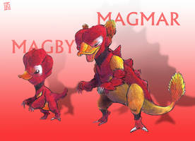 Magby and Magmar by GEATHJERK
