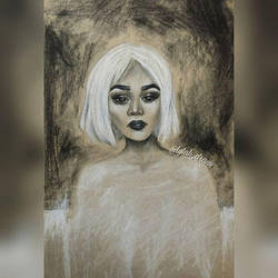 The girl with white hair by lylah-draws