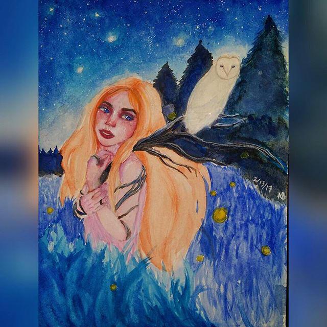A peaceful night by lylah-draws