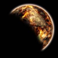 Lava Planet - Moon by xx---greg---xx