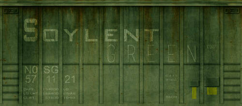 Soylent Green cargo train car by xx---greg---xx