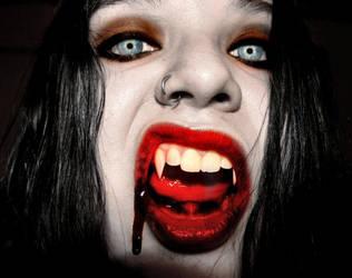 Vampire Jenny-Wicked Fangs by VampHunter777