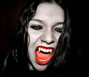 Vampire Jenny-Biting by VampHunter777