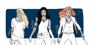 Shadowgirls: Emma, Izzy and Clary. by hogwartxheaven
