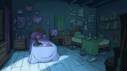 Wicked : Elphaba and Glinda's dorm room by LillianLai