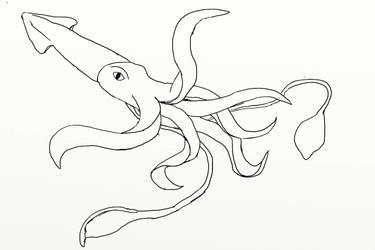 squid doddle  by legoremuffin