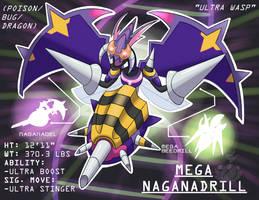 Pokemon Fusion! Naganadel + M-Beedrill! by OzoneFruit