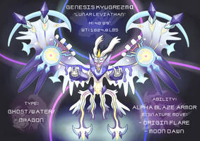 Pokemon Fusion Commission! Genesis Kyugrezma by OzoneFruit