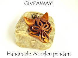 Giveaway! wooden tribal wolf pendant! by JonasOlsenWoodcraft