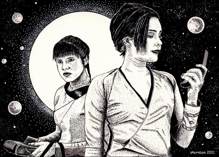 Two spacewomen by sternban