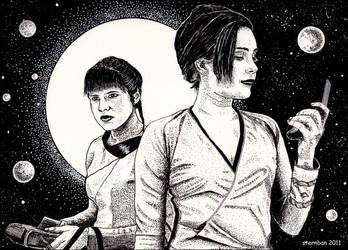 Two spacewomen by sternban