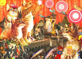 Battle Kittens by warpart