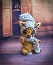 Little winter teddy deer by YumiCamui