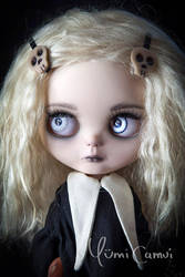 Lenore the cute little dead girl Blythe by YumiCamui