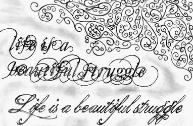 calligraphy by OhhDust