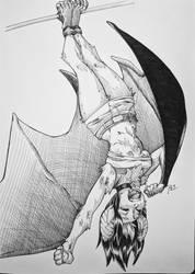 Inktober 2018 Day 23- Bat Wossy by RocatArt