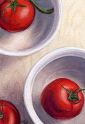 Bowl Of Tomatoes by littlesapphire