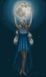 Moon Goddess by littlesapphire