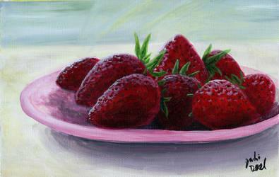 Strawberry Bowl by littlesapphire
