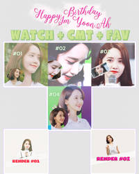 SHARE PACK 00 HAPPY BIRTHDAY IM YOON AH by thanhhai2000