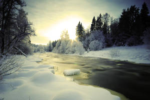 Winter River by comsic