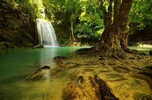 Erawan Waterfall by comsic