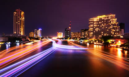 Saphan Taksin Night Revisited by comsic
