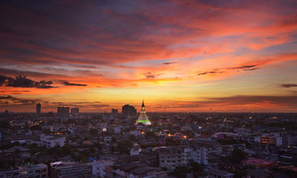 Balcony sunset 6 by comsic