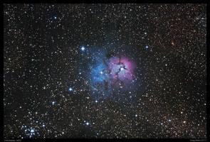 Trifid Nebula M20 Repro by CapturingTheNight