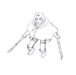Attack on Zeon (Sketch) by SaintJoanofTheRoses