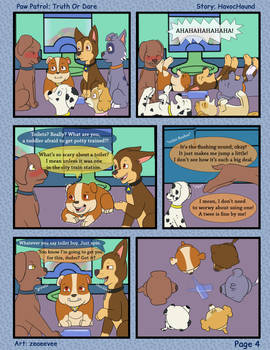Paw Patrol Comic - Truth or Dare Pg 4 by kreazea