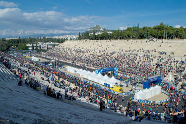 Athens Marathon the Authentic- The Stadium by ginavd