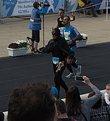 Athens Marathon the Authentic- The Batman by ginavd