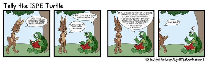 Telly the Turtle 2018-07 Double Negative by LyhliTheLuminescent