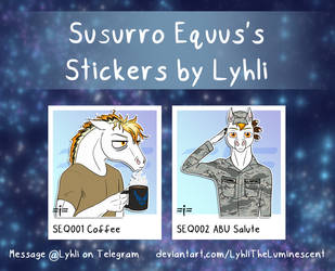 SEQ001-002 Susurro Equus Stickers by LyhliTheLuminescent