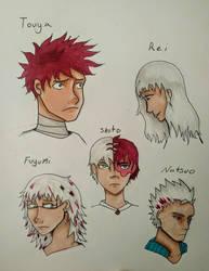 Todoroki family by ScribbleSongs