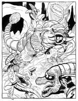 Dino Fight by TCBaldwin