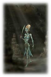 Nakhan 'Living Mummy' Swordswoman by Talzhemir1