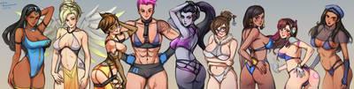 Ladies of Overwatch by MinaCream