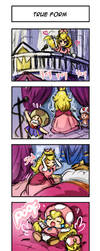 Peachette 4koma #1: True Form by MinaCream