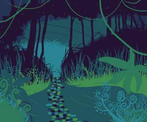 Blue Forest by lostthecreativity