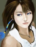 Yuna portrait with Wayne by sa55y