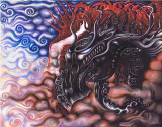 Dragon Series No.1, 2010 by Madd2daMaxx