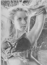 jessica alba sincity drawing by Atrapado