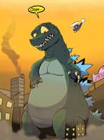 Godzilla: King of... Oops! by Jurassiczalar