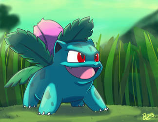 No.002 Ivysaur by Jurassiczalar